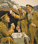 Free Picture of Soldiers Playing Cards