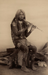 Free Picture of Yuma Indian Playing a Flute