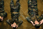 Free Picture of Soldiers Doing Bicycle Kicks in Water