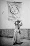 Free Picture of Susan B Anthony With a Votes For Women Flag