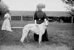 Free Picture of Woman With a Russian Wolf Hound