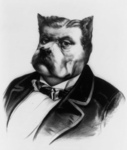 Free Picture of James Fisk Bulldog Caricature
