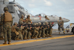 Free Picture of Marine Marksmanship Training on a Flight Deck
