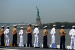 Free Picture of Sailors Passing the Statue of Liberty