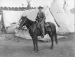 Free Picture of Calamity Jane on a Horse, Buffalo Bill's Wild West Show