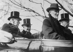Free Picture of Woodrow Wilson, Warren G. Harding, Philander Knox, and Joseph Cannon