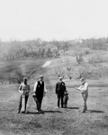Free Picture of Andrew Carnegie Golfing With Friends
