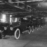 Free Picture of Model T's Completed in a Factory