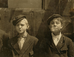 Free Picture of Newsie Boys Smoking Pipes and Cigarettes