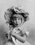 Free Picture of Little Girl in a Bonnet