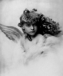 Free Picture of Young Female Angel With Curly Hair