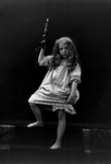 Free Picture of Little Girl in a Nightgown, Holding a Candle