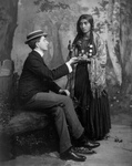 Free Picture of Gypsy Reading a Man's Palm