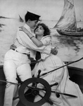 Free Picture of Sailor Couple Embracing on a Ship