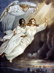 Free Picture of Angel Guiding Spirits to Heaven