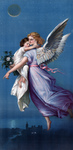 Free Picture of Guardian Angel Flying With Child