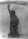 Free Picture of Humans Forming the Statue of Liberty