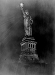 Free Picture of Statue of Liberty at Night
