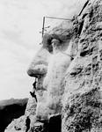 Free Picture of Men Constructing Mt Rushmore