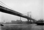 Free Picture of Ship Near the Brooklyn Bridge