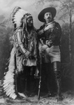 Free Picture of William F Cody (Buffalo Bill) Standing With Sitting Bull