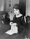 Free Picture of Grace Coolidge Knitting
