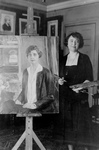 Free Picture of Painter With a Portrait of Grace Coolidge
