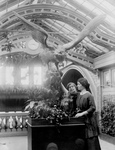 Free Picture of Anne Sullivan and Helen Keller Near a Statue