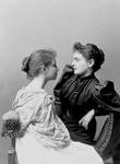 Free Picture of Anne Sullivan Seated With Helen Keller