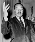 Free Picture of MLK With One Hand Up
