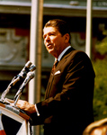 Free Picture of Reagan During a Speech