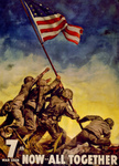 Free Picture of Raising the Flag at Iwo Jima