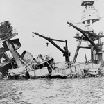 Free Picture of USS Arizona, Attack on Pearl Harbor