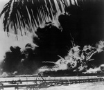 Free Picture of Explosion During the Attack on Pearl Harbor