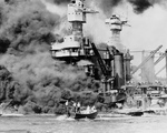 Free Picture of People Being Rescued After the Bombing of Pearl Harbor