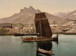 Free Picture of Ships and a Town, Nordlandsbaad, Nordland, Norway
