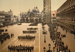 Free Picture of Soldiers in St Mark's Square