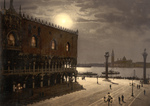 Free Picture of Piazzetta and San Georgio by Moonlight