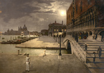Free Picture of Doges' Palace and St. Mark's at Night