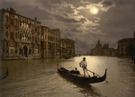 Free Picture of Grand Canal by Moonlight, Venice