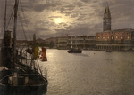 Free Picture of Grand Canal and Doges' Palace at Night