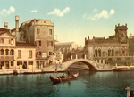 Free Picture of Gondola and Waterfront Buildings, Venice