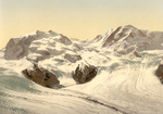 Free Picture of Monte Rosa and Gorner Glacier in Switzerland