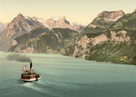 Free Picture of Boat on Lake Lucerne, Switzerland