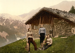 Free Picture of People Outside a House in Champery, Switzerland