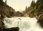 Free Picture of Waterfall in the Swiss Alps