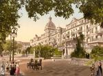 Free Picture of Street Scene at the Grand Hotel Victoria, Interlaken