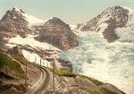 Free Picture of Train Tracks Near Jungfrau, Eiger and Monch Mountains