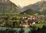 Free Picture of Aare River, Interlaken and Jungfrau in Switzerland