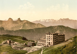 Free Picture of Railroad and Rochers de Naye Grand Hotel